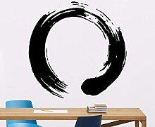CHTHREEC Zen adesivo da parete rotondo yoga