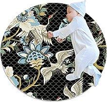 Chuangxin Tappeto da bagno rotondo tappeto