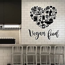 Cibo vegano Wall Decal parole scritte sano