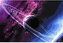 Cielo Stellato Cosmico Dipinto Puzzle In Legno 98
