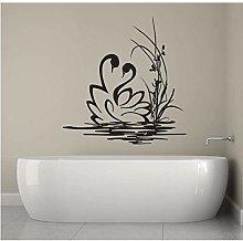Cigni Coppia Adesivo Murale Bagno Decorazioni Per