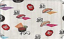 CIKYOWAY Tappetino da bagno Cute Sushi, Tappetino