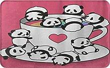 CIKYOWAY Tappetino da bagno Panda Bear, Tappetino