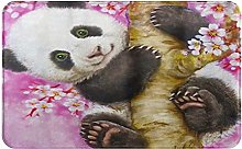 CIKYOWAY Tappetino da bagno Panda Flowers,