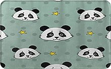 CIKYOWAY Tappetino da bagno Panda Stars, Tappetino