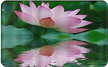 CIKYOWAY Tappetino da bagno Pink Lotus, Tappetino