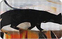 CIKYOWAY Tappetino da bagno Pittura per gatti,