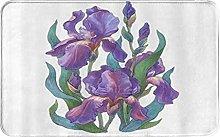 CIKYOWAY Tappetino da bagno Purple IrisDesign,