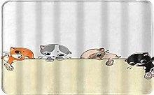 CIKYOWAY Tappetino da bagno Quattro gattini,