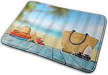CIKYOWAY Tappetino da bagno Spiaggia tropicale