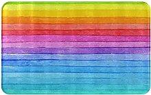 CIKYOWAY Tappetino da bagno Stripe Rainbow,