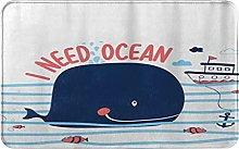 CIKYOWAY Tappetino da bagno Whale Design,