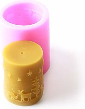 Cilindro Natale Silicone Stampo