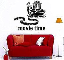 Cinema Time Popcorn Adesivo da parete Vinile