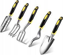 Cinque pezzi di strumenti di scavo, set di