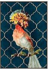 Cliccandoshop - Quadro Bird Colors (140 x 4 x 100