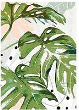 Cliccandoshop - Quadro Green Plant (125 x 85 x 4