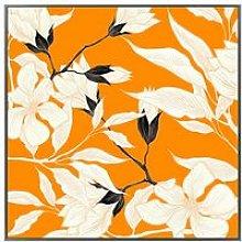 Cliccandoshop - Quadro Orange Flower (100 x 2,5 x