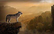 Cliff Wolf Puzzle In Legno 98 Pezzi Sfida