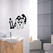 Clinica dentale Art Déco Murale Bagno Cartoon