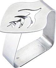 Clip per tovaglia in acciaio inox, decorazione a
