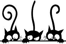 CLISPEED Tre Gatti Divertenti Animali Adesivo