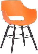 CLP - Sedia Skien in plastica Arancione Nero