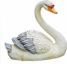 CMmin Decorazione del Giardino Goose Scultura