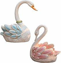 CMmin Swan Scultura Flower Pot Swan Statua