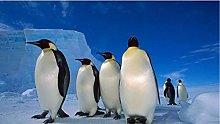 Colonia Di Pinguini Antartici Puzzle In Legno 98
