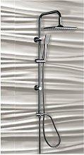 Colonna doccia acciaio cromato con soffione e