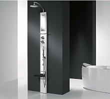 Colonna doccia attrezzata in alluminio Novellini