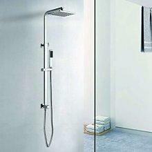 Colonna doccia con soffione 20x20 e doccetta