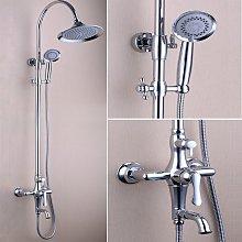 Colonna doccia e vasca da bagno cromata chic e