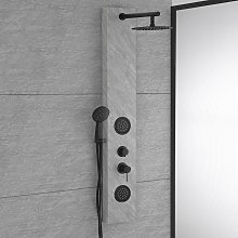 Colonna doccia fumetto effetto marmo chiaro