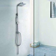 Colonna doccia in acciaio con soffione inox 20x20
