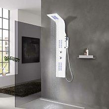 Colonna Doccia in Alluminio 20x44x130 cm Bianco