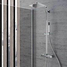 Colonna doccia Parigi in ottone con soffione slim