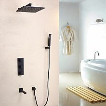 Colonna doccia termostatica a parete in ottone
