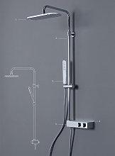 Colonna doccia X1 in acciaio soffione tondo cromo