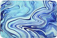 Colorato Blu Neon Indaco Marmorizzazione Marmo