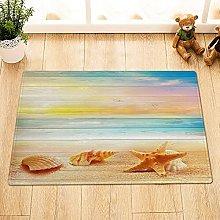 Colore bordo di legno conchiglie stelle marine