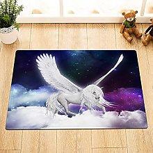 Colore cielo stellato bianco volante unicorno