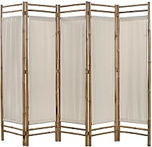 Colore della tela: Crema Materiale: Bambù e tela