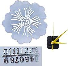 ColourQ 1 Set Orologio a fiori Stampo in resina