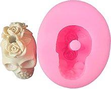 ColourQ 3D Teschio di fiori Decorazione Stampo in