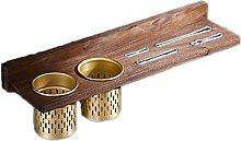 coltelli blocchi senza punzoni in legno massiccio