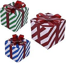 COMEYER 3 scatole regalo illuminate di Natale con