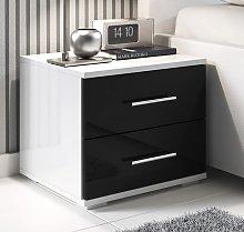 Comodino di design Beatriz bianco e nero