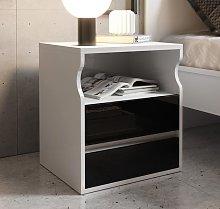 Comodino di design Tamy bianco e nero